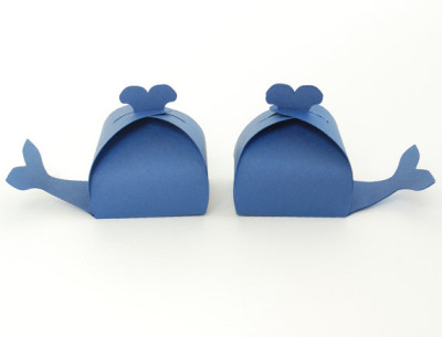Whale Shaped Favor Box Set