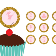 Free ballerina baby shower toppers