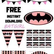 Free Batgirl baby shower Printable