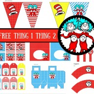 Free Thing 1 Thing 2 baby shower printable