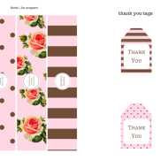 free floral printables for baby shower