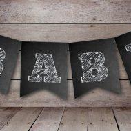 free printable chalkboard banner