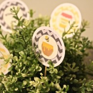 free what will it bee baby shower themed printables toppers