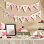 Little Girl Pumpkin Baby Shower
