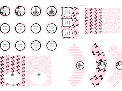 tiffany pink baby shower printables
