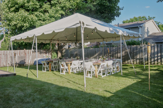 gorgeous neutrally toned tent