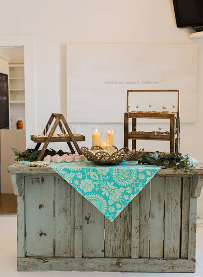 Bohemian Baby Shower Dessert table