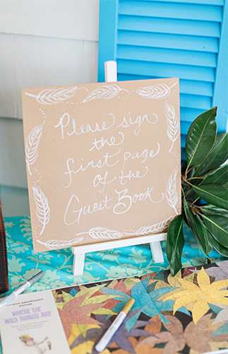 Bohemian Baby Shower guestbook