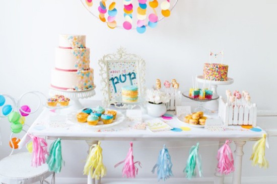 Confetti & Sprinkles Baby Shower ideas, about to pop
