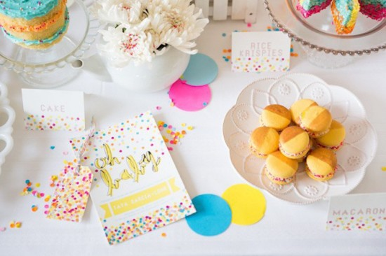 Confetti & Sprinkles Baby Shower sweets