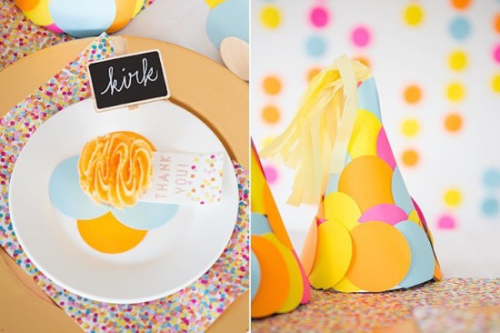 Confetti & Sprinkles Baby Shower table setting for guests