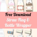 Free Straw Topper & Bottle Wrapper Templates