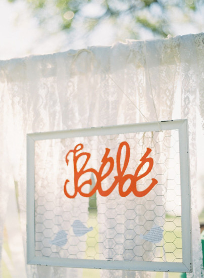 French Country Inspired Baby Shower decoration, bebe sign