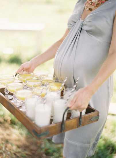 French Country Inspired Baby Shower drinks