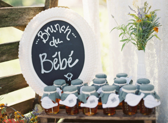 French Country Inspired Baby Shower favors, honey favors, honey jar favors
