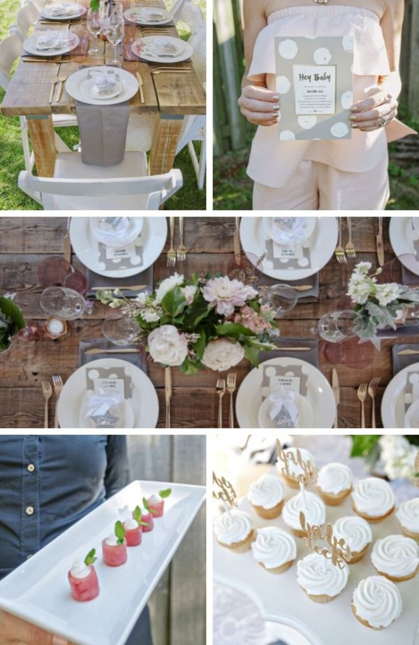 Gorgeous Backyard Baby Shower Tablescape