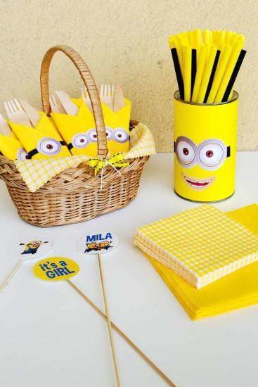 Minion Baby Girl Shower decorations