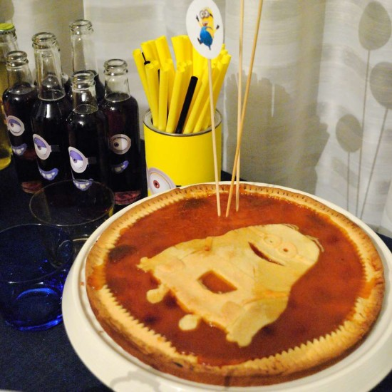Minion Baby Girl Shower food, pie