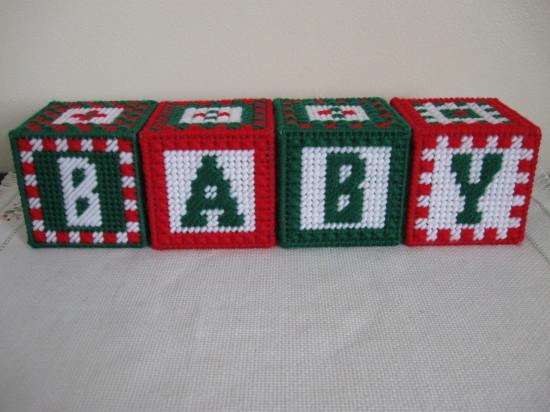 Set of 4 BABY Jingle Bell Blocks