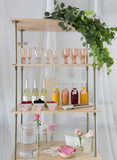 Sweet XOXO Baby Shower drinks bar