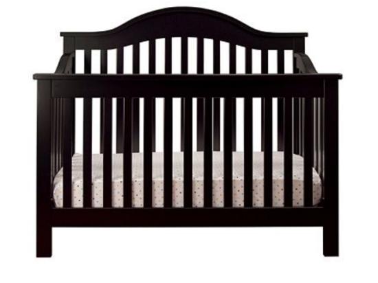 christmas nursery room crib