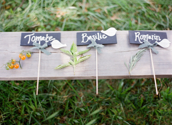 outdoor baby shower, signs, vegetable garden