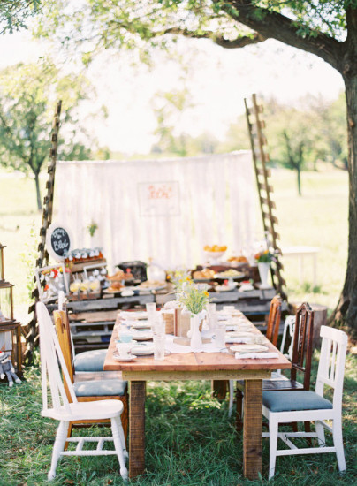 outdoor picnic style baby shower ideas