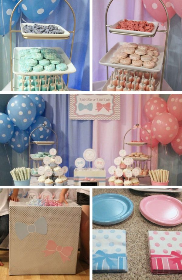 Little Man or Little Lady Gender Reveal Tablescape