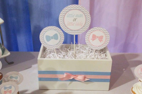 Little Man or Little Lady Gender Reveal centerpiece