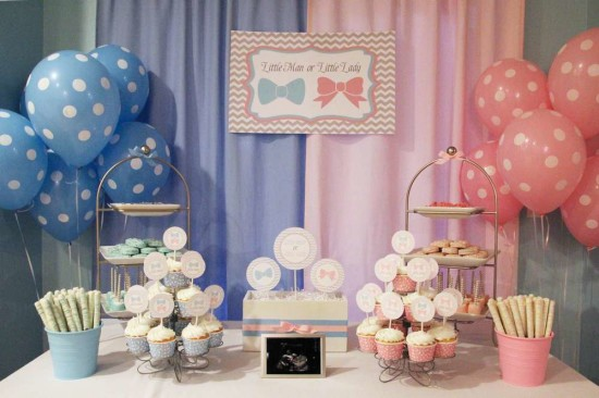 classic pink and blue tones to decorate