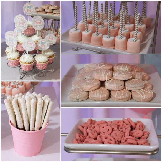 Little Man or Little Lady Gender Reveal pink food ideas