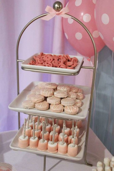Little Man or Little Lady Gender Reveal Party tray of sweets