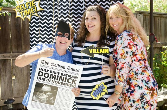 batman baby shower photo booth props