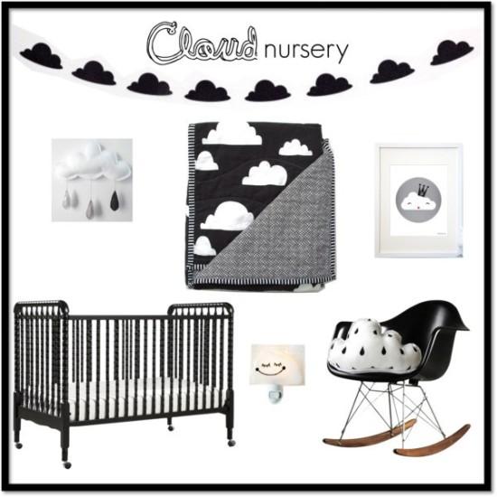 cloud nursery room decoration ideas