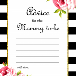 Free Mommy to be Advice Card
