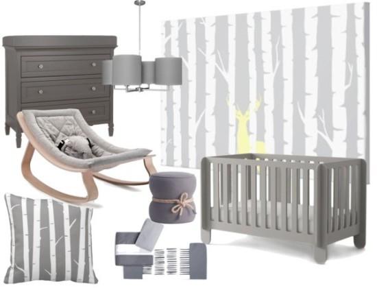 grey gender neutral baby nursery