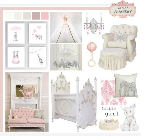little girl baby nursery room, princess