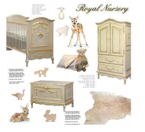 royal prince or princess baby nursery room
