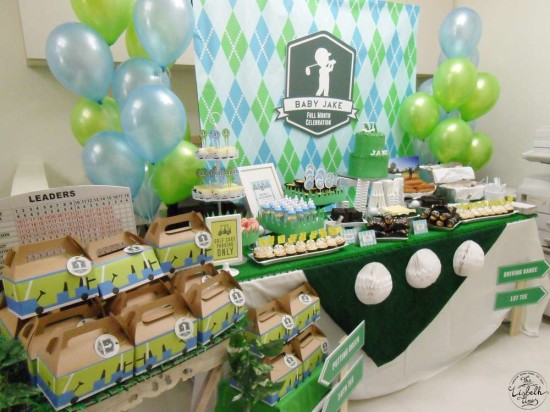 First Masters Tournament baby shower golf