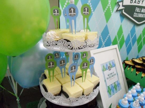 First Masters Tournament baby shower golf desserts