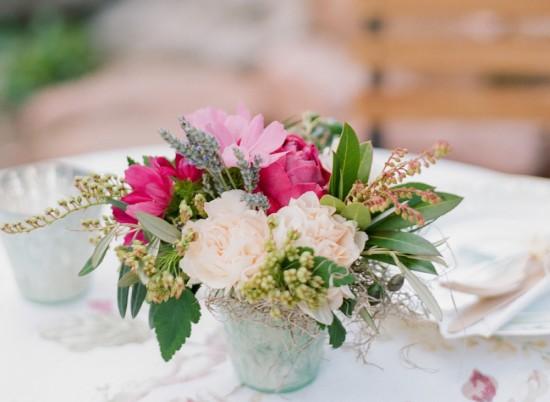 Garden Baby Shower centerpiece florals