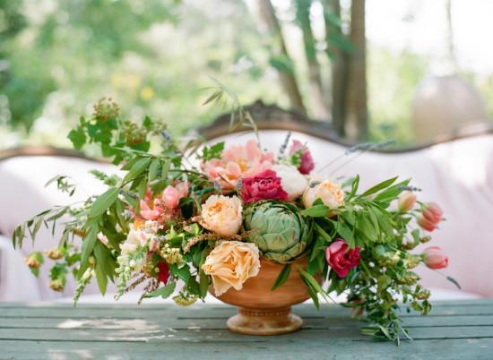 Garden Baby Shower floral centerpiece