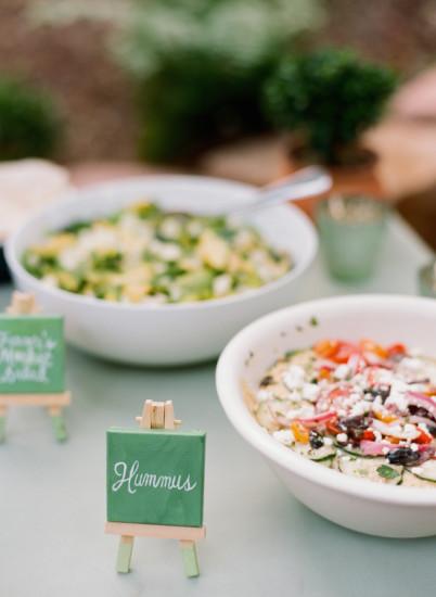Garden Baby Shower food ideas, hummus