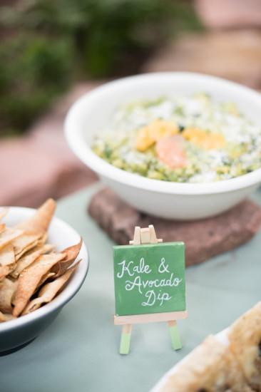 Garden Baby Shower food ideas, kale and avocado dips