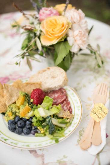 Garden Baby Shower food plate