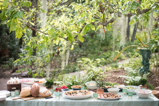 Garden Baby Shower food table