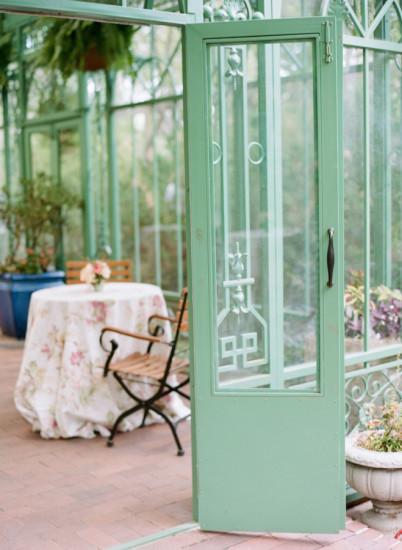 Garden Baby Shower vintage green house door