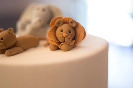 King of the Jungle Baby Shower cake, lion