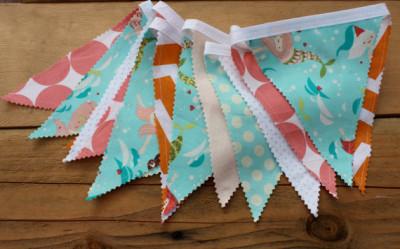 Mermaid Bunting Pennant Bunting Banner Garland