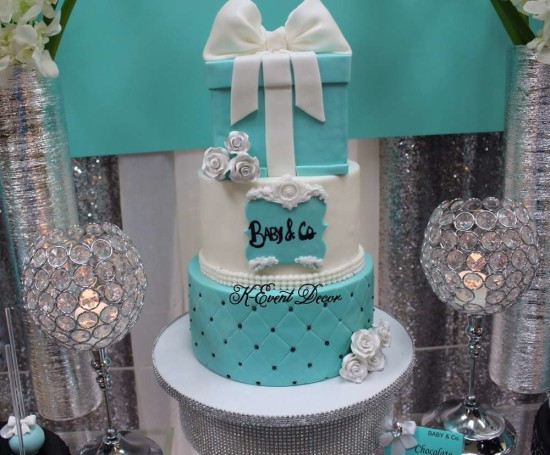 Tiffany Themed Baby Shower cake
